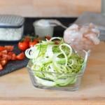 Zutaten für Zucchininudeln